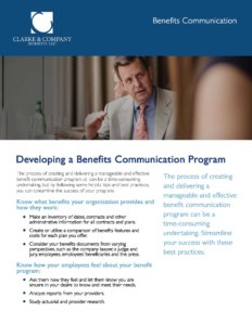 Exhibit K-11 Developing a Benefit Communication Program