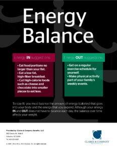 Energy Balance poster - 17248