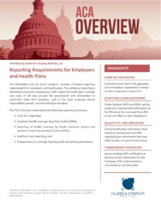 HCR Reporting Requirements for Employers and Health Plans