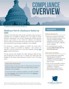 Medicare Part D Disclosure Notice to CMS