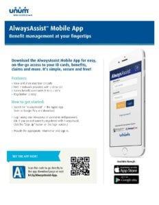 AlwaysAssist mobile app employee flyer (EN-1988) (1)