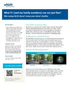 Why Buy Vision Insurance Employee Flyer