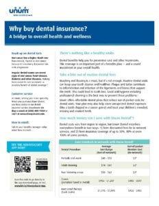Why buy dental insurance employee flyer (EN-1996)